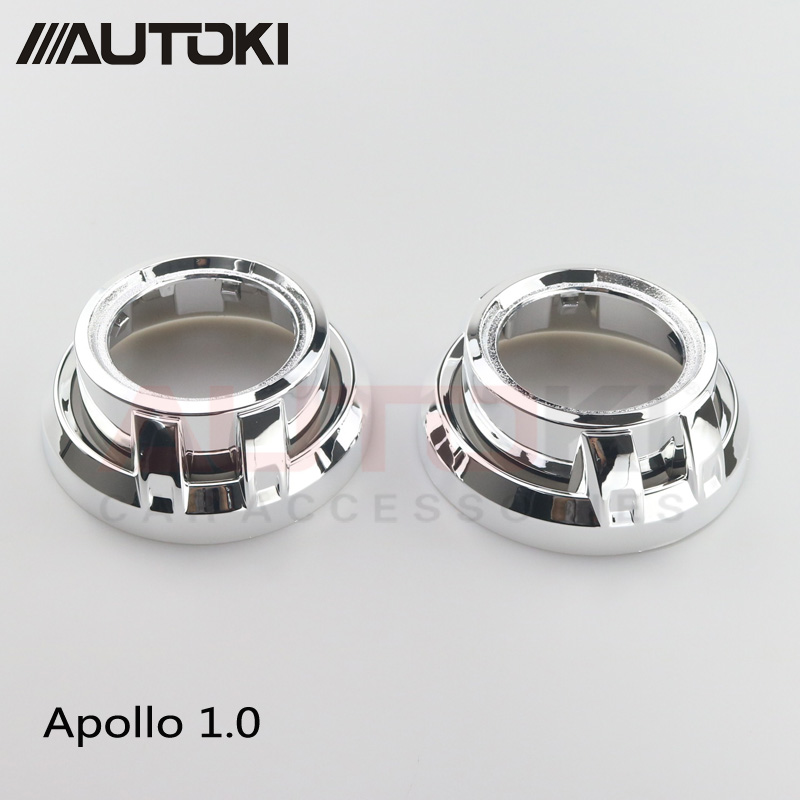 Free Shipping 3 Inches Hid Bi Xenon Projector Lens Shroud High Temp Resistant Silver Apollo 1.0 For Car Front Headlight