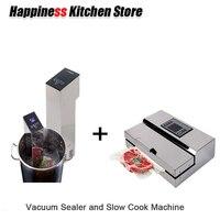 Кухня Инструменты 1 компл.. Вакуумный еда процессор герметик + Sous Vide медленно Кук Mahince погружения плита бытовой и коммерческих