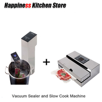 Kitchen Tools 1 Set Vacuum Food Processor Sealer + Sous Vide Slow Cook Mahince Immersion Cooker Household and Commercial