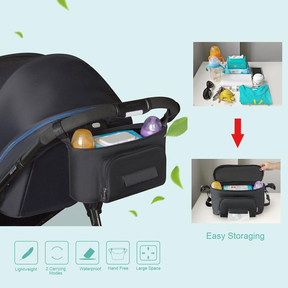 Universal Baby Jogger Stroller Organizer Tas Penyimpanan Gantung Storage Kereta Dorong Tempat Bayi Anak Tahan Air Mengatur Peduli Hal Popok Piala Di Strollers Aksesoris Dari Ibu
