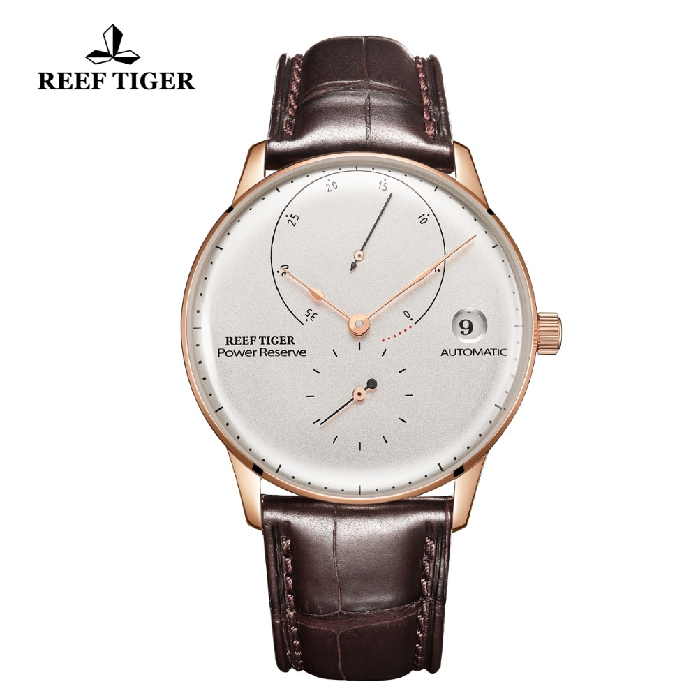 Strap Automatic Watch Tiger/rt Rose-Gold Luxury Waterproof Business-Dress RGA82B0-2