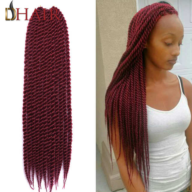 Crochet Hair Over Locs : 2016 New 22Inch Senegalese Twist Hair Crochet Faux Locs For Kids And ...
