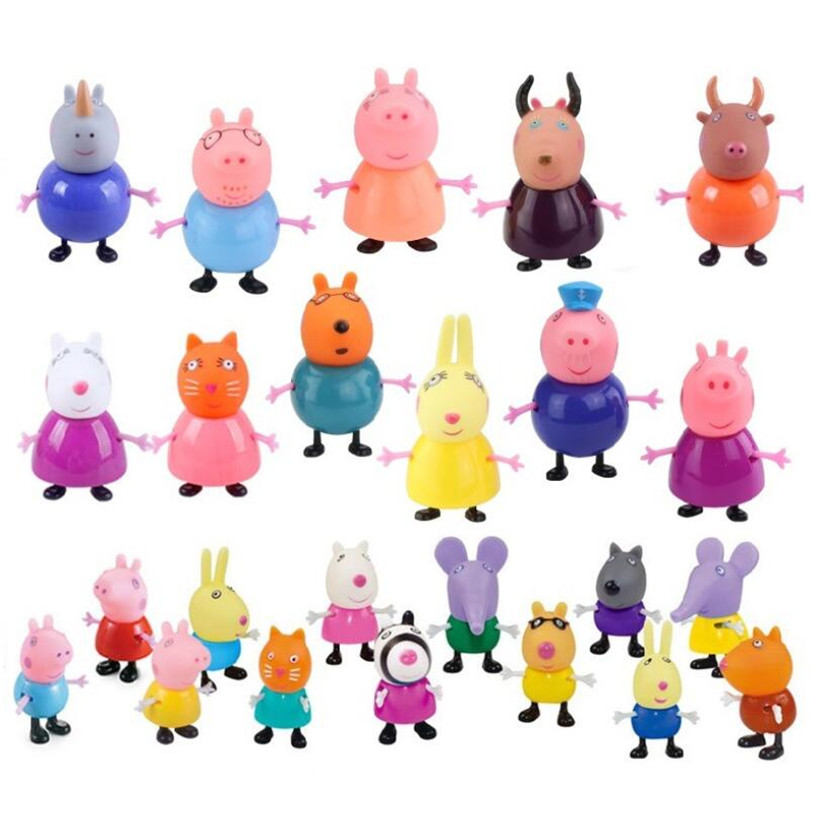 Peppa Pig Toys Fashion Doll George Family Role Dad Mom Grandpa Grandma Action Figure Model Children Birthday Gifts in Action Toy Figures from Toys Hobbies