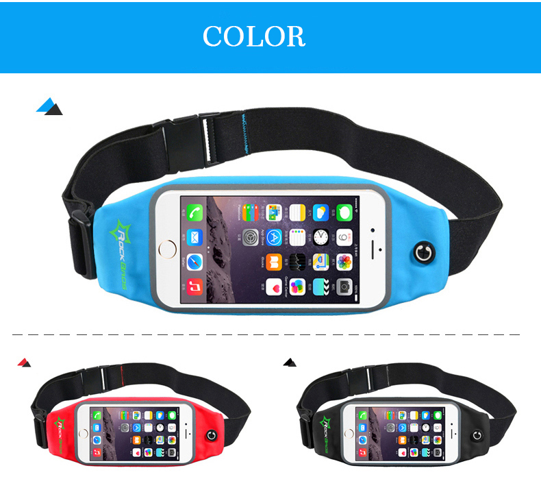 ROCKBROS Waterproof Running Bag Waist Bag Sport Belt Bags 5.8-6 Inch Phone Pouch Case Bags For IPhone 6 7 Plus Sport Accessories 17