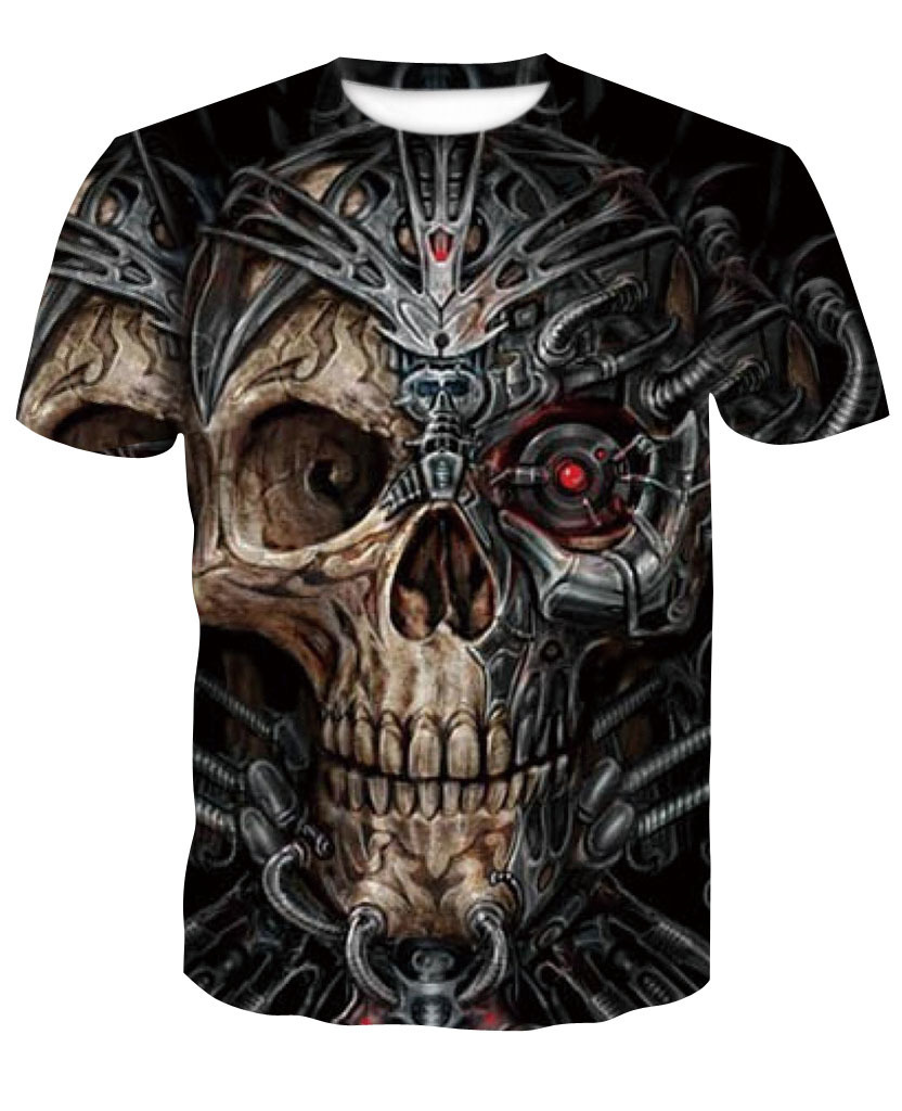Human Skeleton Series 3d Leisure Time Short Sleeve T Pity Number Printing Hot T shirt Summer Top Casual Male 100 Cotton in T Shirts from Men 39 s Clothing
