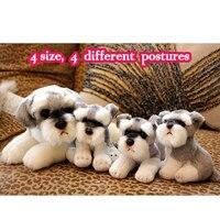 24cm 9 1/2 inch Cute Small Schnauzer Puppy Lifelike Plush Toy Adorable Dog Soft Stuffed Animal Kids Doll for Children Photo Prop