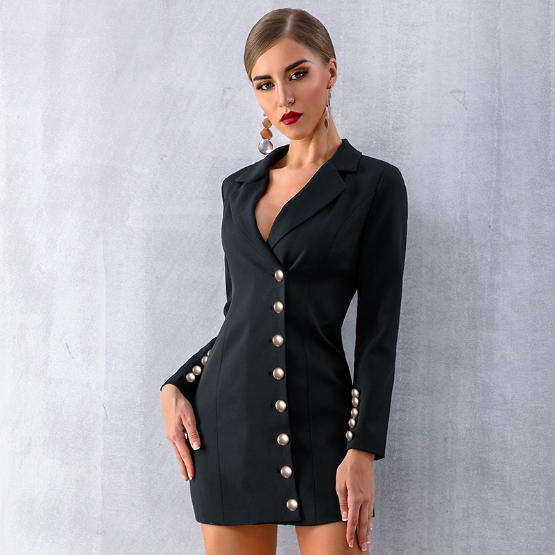 2019 Women Explosions Small Suit High - End Brand Simple Atmosphere Suit Women Clothes Black Jackets and Coats Women Dress