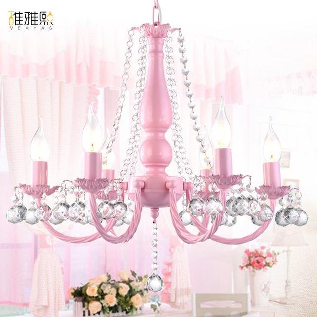 lichtpunt meisje roze wit verlichting kinderen lampen verlichting kinderen lamp kristallen kroonluchter verlichting