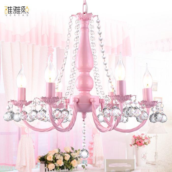 Light Fixture Girl Pink White Lighting Children Lamps Lighting Children Lamp Crystal Chandelier