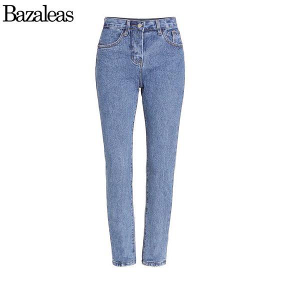 Bazaleas Calças Cowboy Calças Soltas Calças de Brim 2017 primavera verão Casual Demin Jeans Boyfriend Jeans Carga