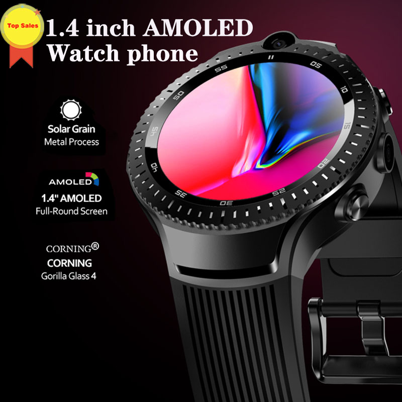 best 2019 smart watch dual Camera 4G Lte Smart Watch GPS Wifi Heart Rate  Monitor Android phone call watches unique gift for men