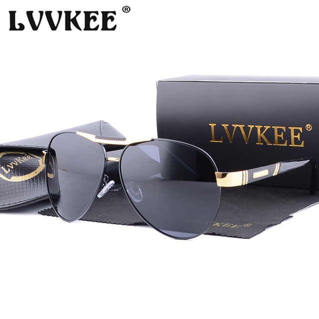 6c3941fb6a LVVKEE Men s Sunglasses Brand Designer Pilot Polarized Male Sun Glasses  Driving Eyeglasses Gafas Oculos de sol masculino For Men