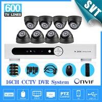 16CH CCTV DVR realtime recording Day Night Security 600tvl Camera Surveillance Video System for DIY CCTV kit 16 ch SK 212