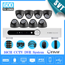 TEATE 16CH CCTV DVR realtime recording Day Night Security 600tvl Camera Surveillance Video System for DIY CCTV kit 16 ch SK-212