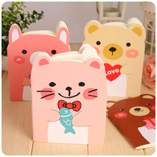 4pcs/lot 14*10.5cm Creative Stationery Cute Little Pig Kitten Bear Bear Cartoon Notes Portable Diary Student Small Book pounce little kitten