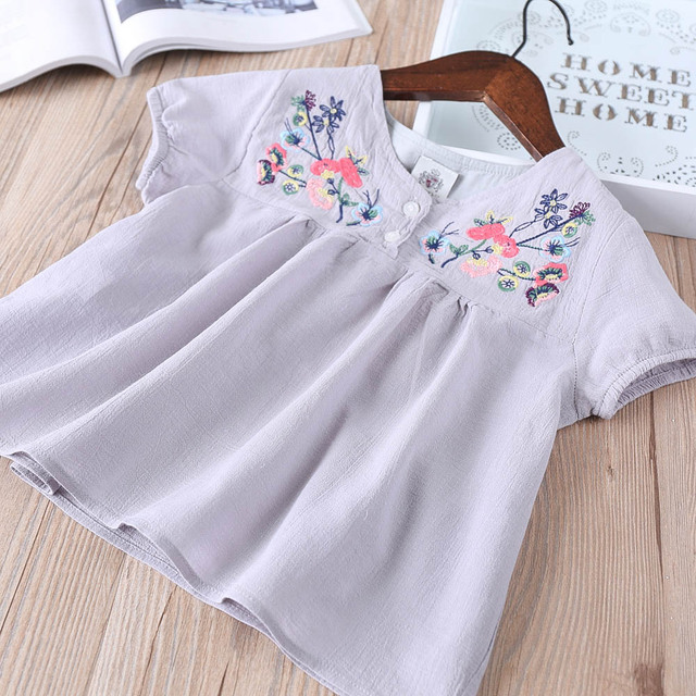 d4b79cf4b Hurave cotton embroidery infant tutu dresses blouses Baby Girls ...
