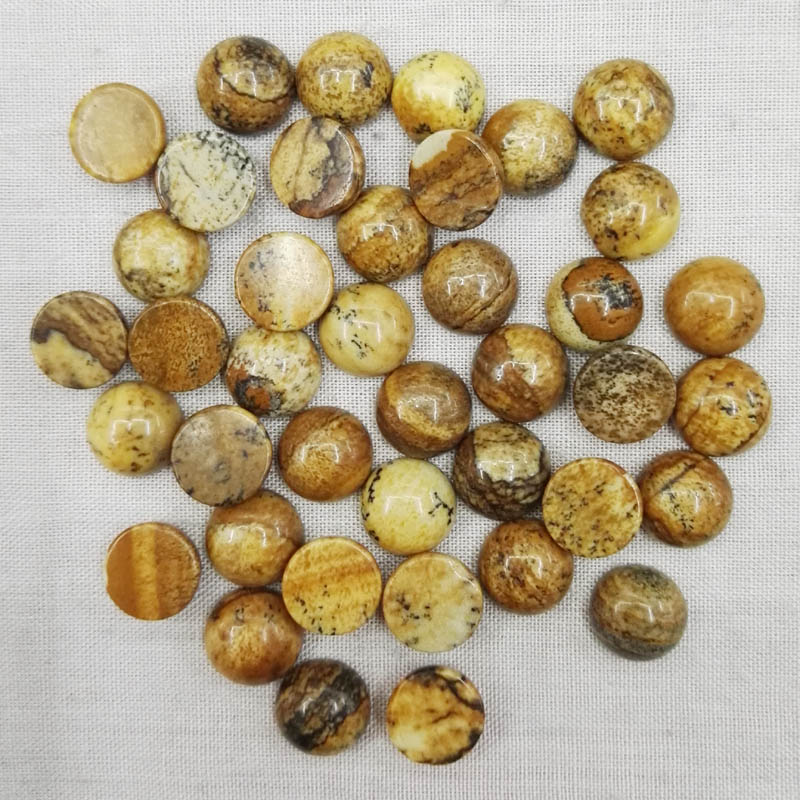 Natural picture stone beads 12x12mm round CAB CABOCHON stone beads for jewelry Accessories wholesale 50pcs/lot free