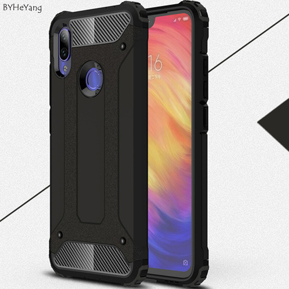 note7 case For Xiaomi Redmi Note 7 Pro Cover Shockproof Armor Rubber Hard PC Case For Xiaomi Redmi Note 7 Back Cover Redmi Note7 redmi note 7 pro cover