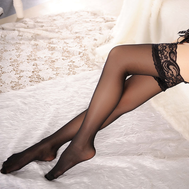 1Pair Sexy Lingerie Thigh High Lace Stockings For Women Ladies Sexy Erotic Transparent Female Pantyhose 2019 New Summer