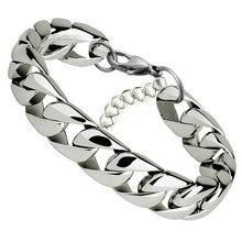 7mm Miami Cuban Chain Bracelet 316L Stainless Steel Men Curb Link Bracelet Hippie Biker Hip Hop Jewelry цены онлайн