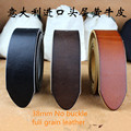 201666 38mm  Casual  vegetable tanned leather headless  retro    Genuine  Leather BELT without buckle