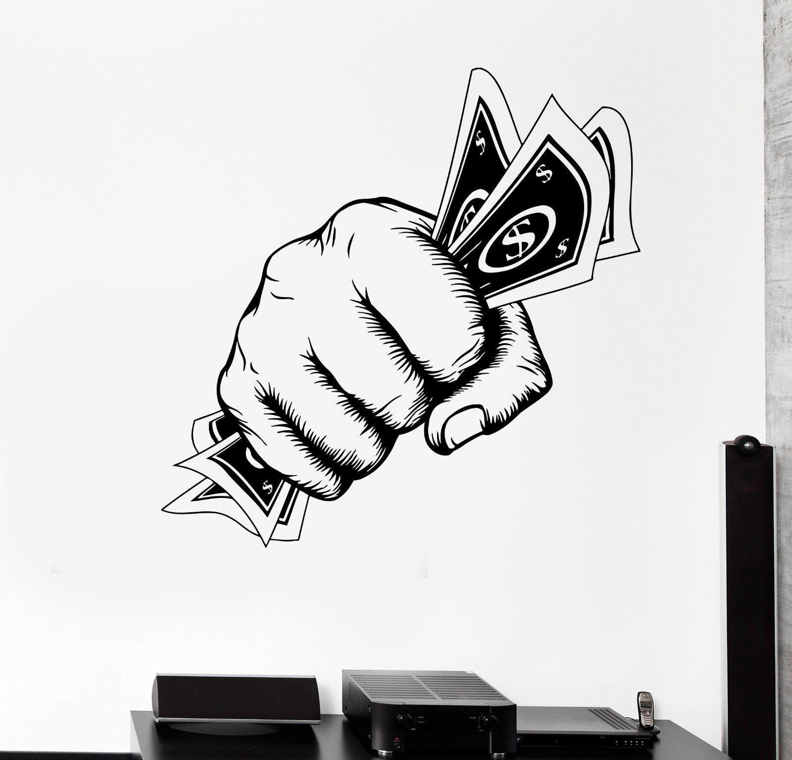 ツ)_/¯Q019 2016 Nueva caliente extraíble Adhesivos de pared dinero ...