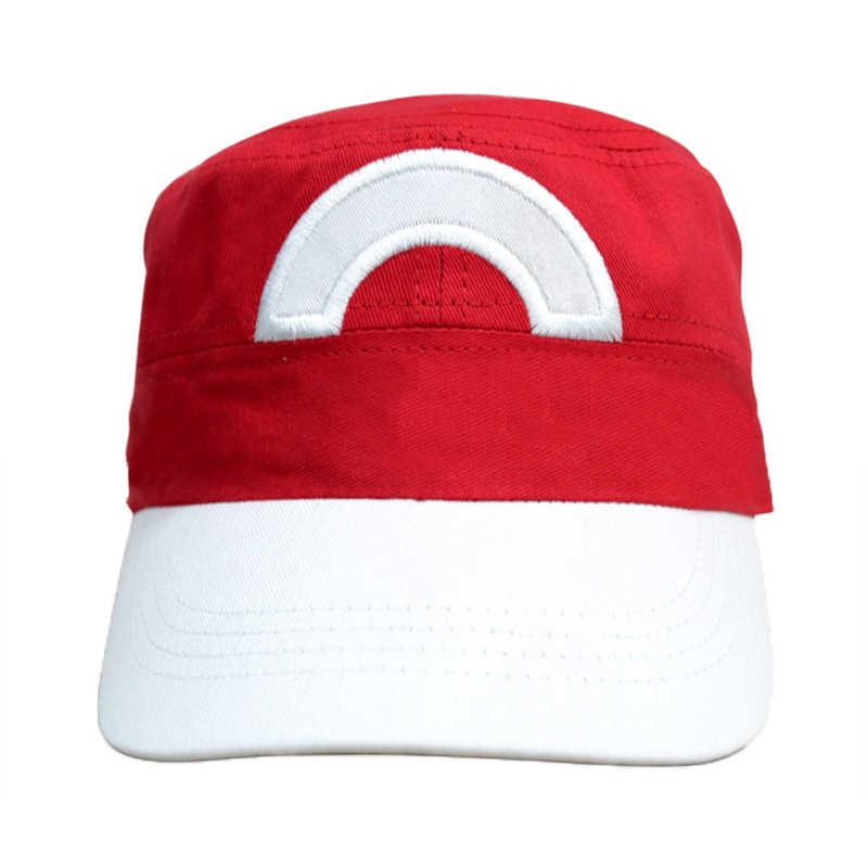 Оптовая продажа Аниме Карманный Монстр пепел Кетчум костюмы для косплея шляпы Покемон Кепка унисекс Модная легкая шляпа сшивание цвета