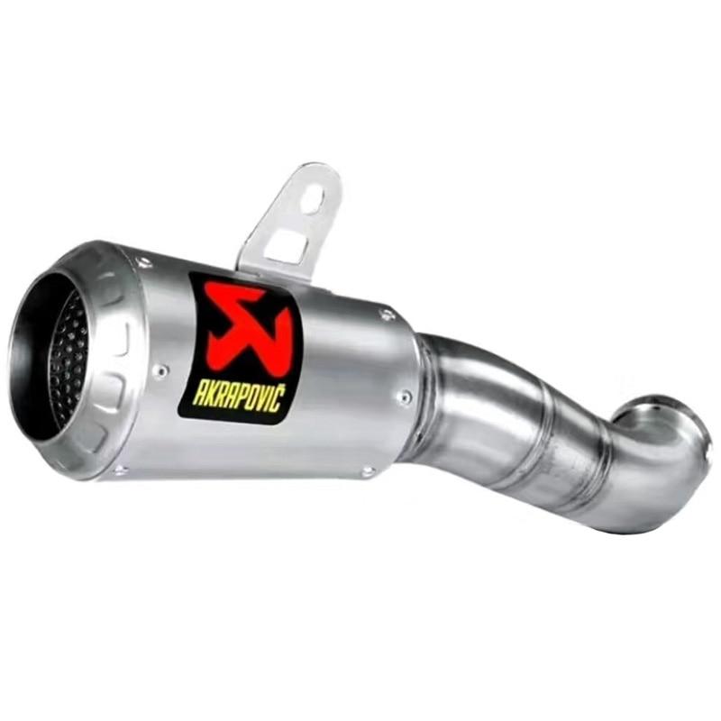 Motorcycle YZF R3 Exhaust Muffler Pipe Stainless Steel Akrapovic Motorbike Muffler Exhaust for Yamaha YZF R3 2015 2016 2017