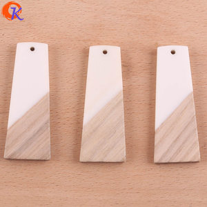 Image 5 - Cordial Design 30Pcs 19*49MM Jewelry Accessories/Hand Made/DIY Making/Trapezoid Shape/Natural Wood With Resin/Earring Findings