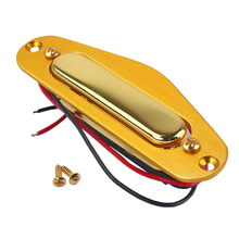 Vintage Golden Magnet Neck Pickup Humbucker for Fender TL Style Electric Guitar Bass Replacement Parts 2pcs hot dual rail metal double track blade pickup neck rail humbucker for electric guitar parts