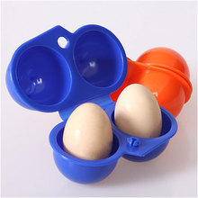 Kitchen Convenient Egg Storage Box Container Hiking Outdoor Camping Carrier For 2 Egg Case #55012