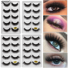 LANJINGLIN 5 pairs strip lashes 3d mink false eyelashes hand made makeup natural long fake volume G6