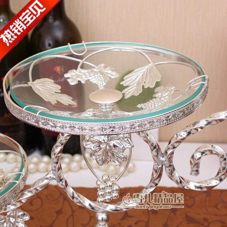 Европейская мода лоза Фруктовая тарелка три слоя торт компот роскошные свадебные украшения инвентарь сердце украшение для дома - 4