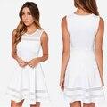 Vestido Curto Branco Short White Dress Chiffon Party white Dresses Sexy Club 2015 Plus Size Women Clothing Roupa Feminina
