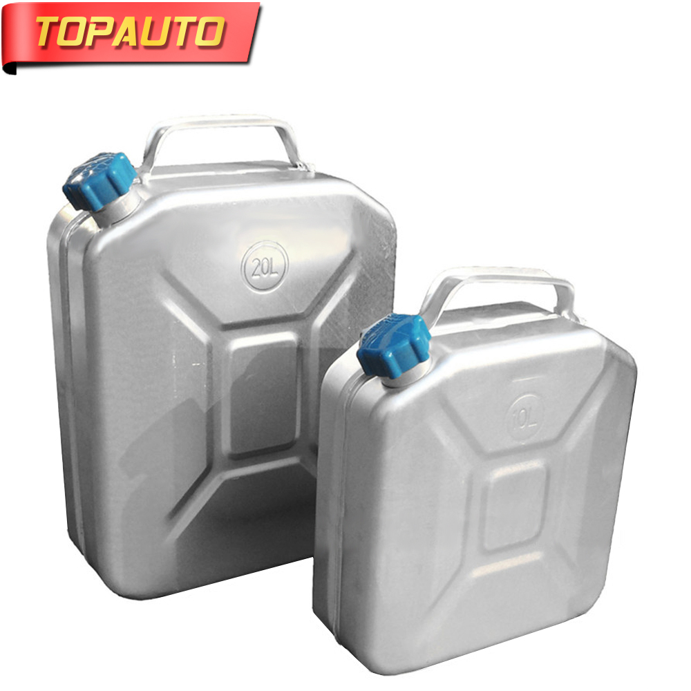 Self-Conscious Topauto 20l Oil Thick Aluminum Fuel Tank Gasoline Diesel Can Water Tank Storage Cell Auto Motorcycle Truck Car Accessories