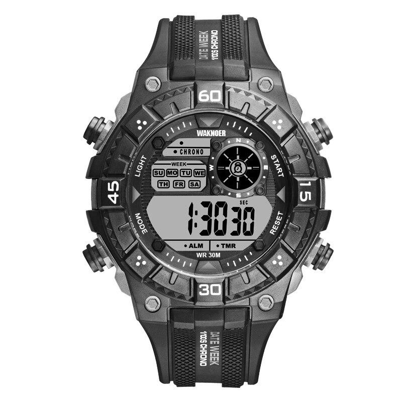 WAKNOER Wrist Watch Waterproof LED Digital Watch Men Sport Watches Men's Watch Clock relogio masculino relojes para hombre hombre led relojes con pantalla acero inoxidable relojes de cuarzo estilo deportivo backlight masculino relogio commander watch