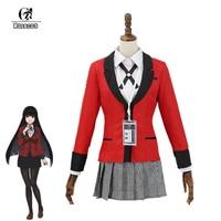 ROLECOS Anime Kakegurui 2rd Season Cosplay Costume Jabami Yumeko Costume Japanese JK School Uniform for Women Cosplay Costume