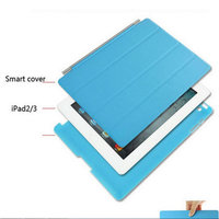 Ultra Thin PU Leather Slim Magnetic Four Folding Front Smart Cover Skin Hard PC Shell Back