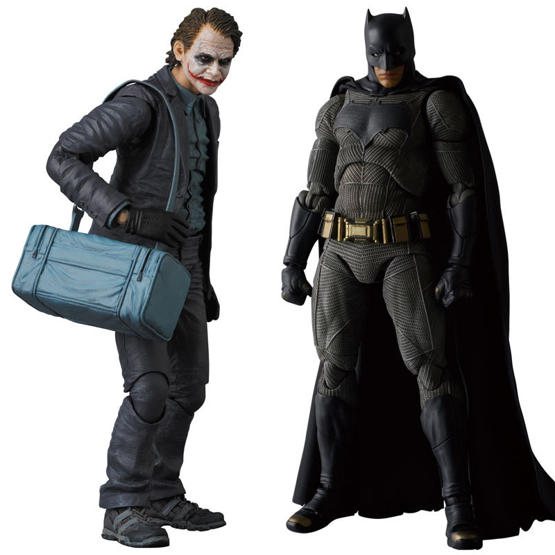 MAFEX NO.015 & 017 Batman The Dark Night The Joker PVC Action Figure Collectible Model Toy 15cm