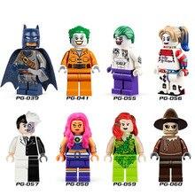 8pcs/lot Bat-man Clown Scarecrow Assemble Minifigures Action Figure Toy Kids Christmas Gift