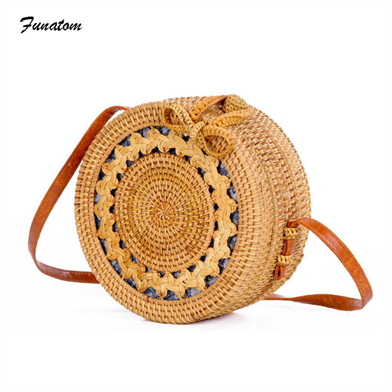 INS Popular 2018 hot sale Vietnam Hand Woven Beach Bag Round Rattan Straw Bags Bohemia Style Beach Circle Bag free shipping перезаправляемые картриджи для epson stylus photo tx650
