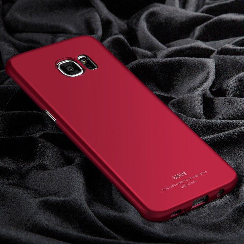 Para Samsung Galaxy Caso Borde S7 MSVII Delgado Casos de Lujo Para Samsung Galaxy S7 Borde/For Galaxy S7 Cubierta de la Caja Dura Del Teléfono de Vivienda