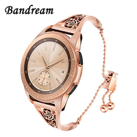 New Floral Jewelry Watchband for Samsung Galaxy Watch 42mm Active Gear S2 Classic Women Quick Release Band Stainless Steel Strap