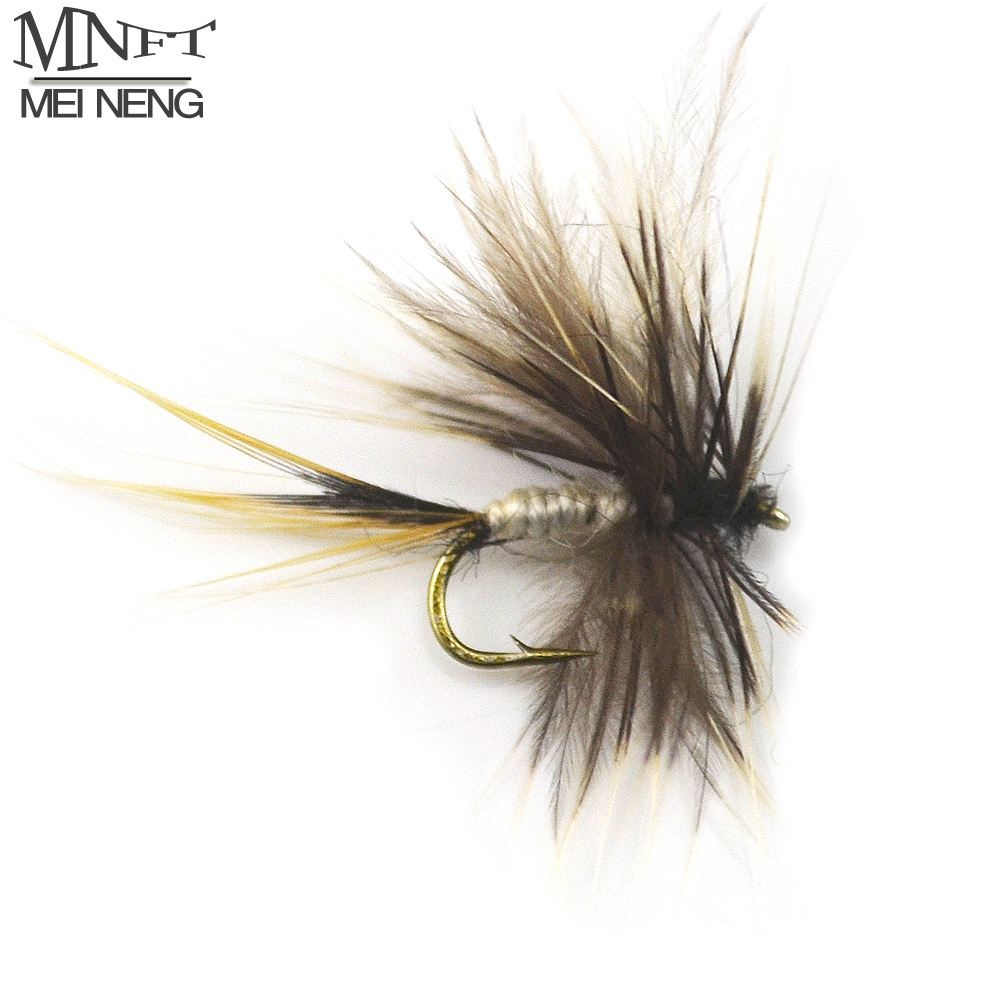 MNFT 10PCS 14# 12# Grey Mosquito Fly May Trout Flies Fly Fishing Lures Bugs Wholesale 10pcs beadhead pm caddis 14 nymphs dry fly fishing trout flies page 5