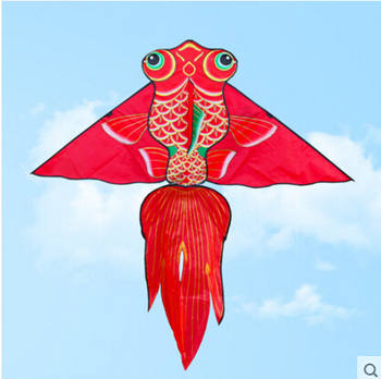 free shipping high quality 1.6m fish kite10pcs/lot with handle line child kite flying outdoor toys cheap kite factory wholesale