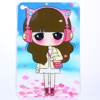 High Quality Pretty Fall proof Soft Silicone Back Cover Protective Case For Xiaomi mi pad 2/3 7.9 inch Original 1:1