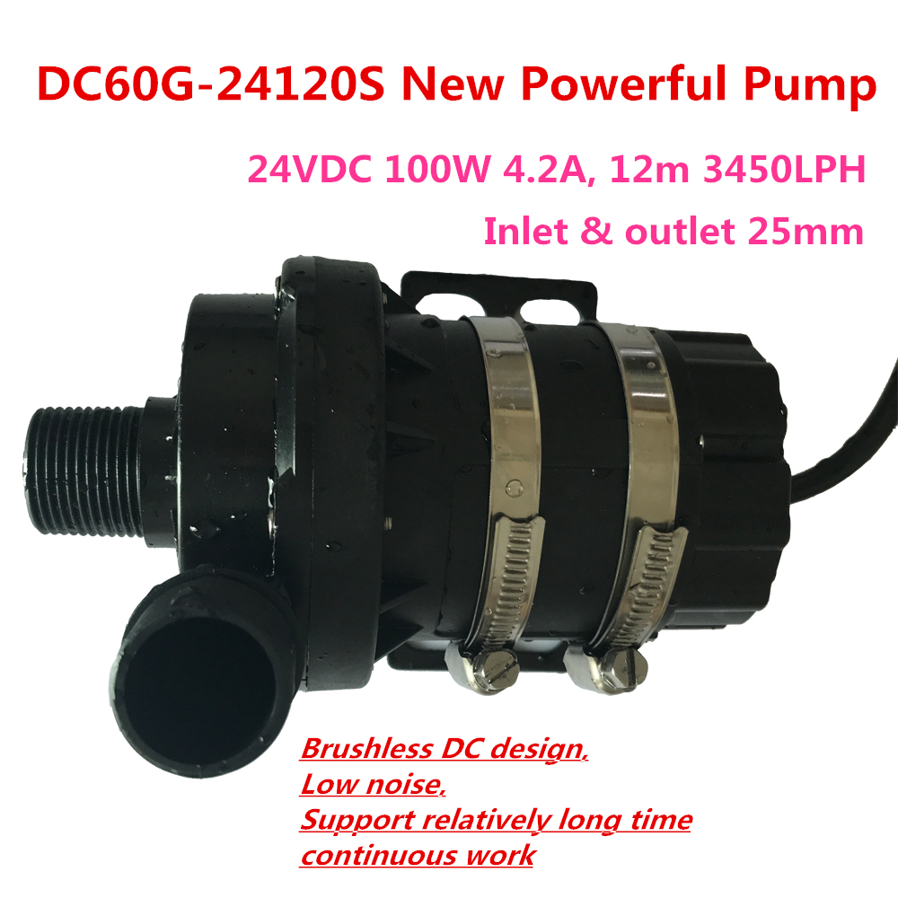 High Powerful 24V DC Brushless Submersible Pump DC60G-24120S 100W 12m 3450LPH Stable Continuous RunHigh Powerful 24V DC Brushless Submersible Pump DC60G-24120S 100W 12m 3450LPH Stable Continuous Run