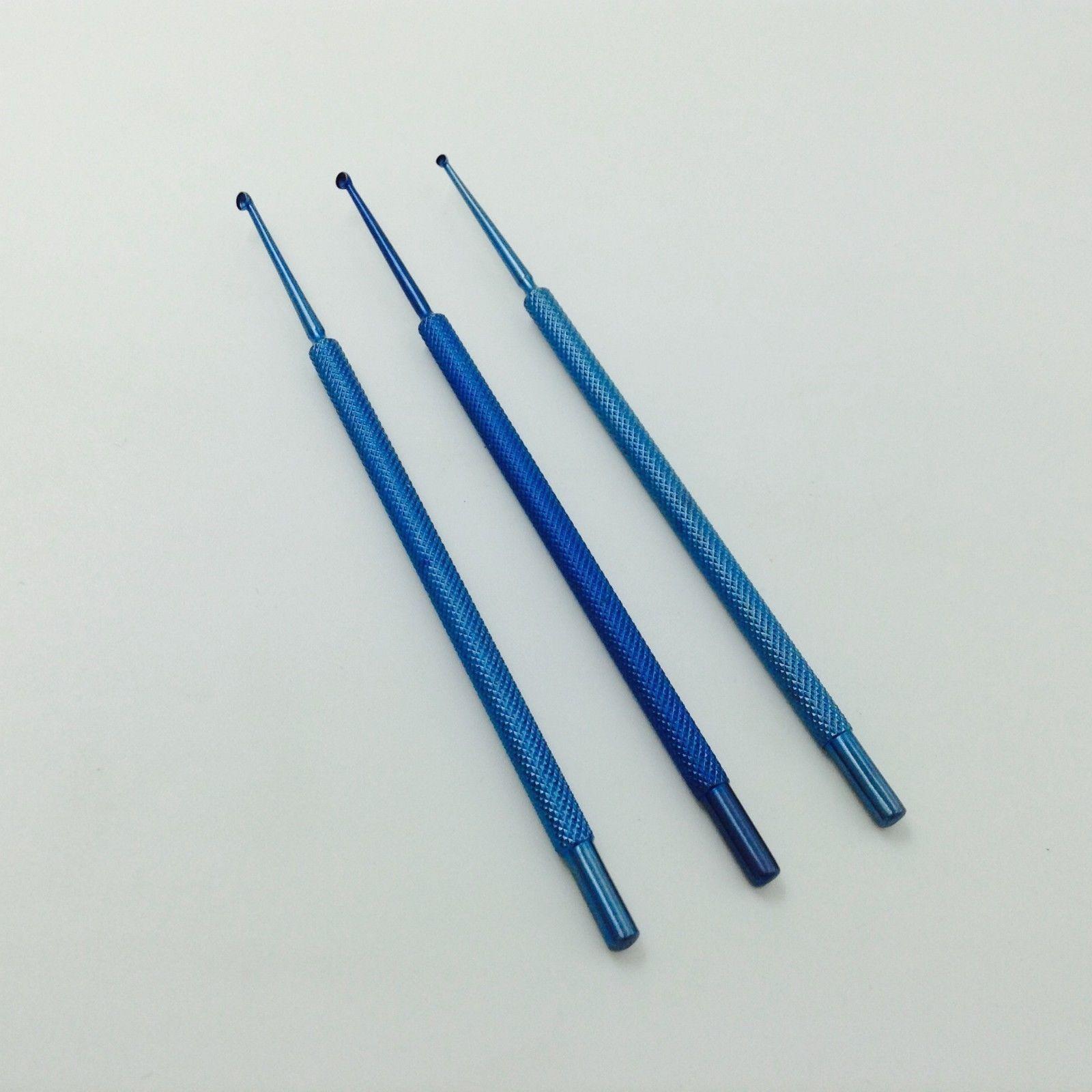 BEST 3PCS Titanium Chalazion Curettes Micro ophthalmic eye surgical instrumentBEST 3PCS Titanium Chalazion Curettes Micro ophthalmic eye surgical instrument