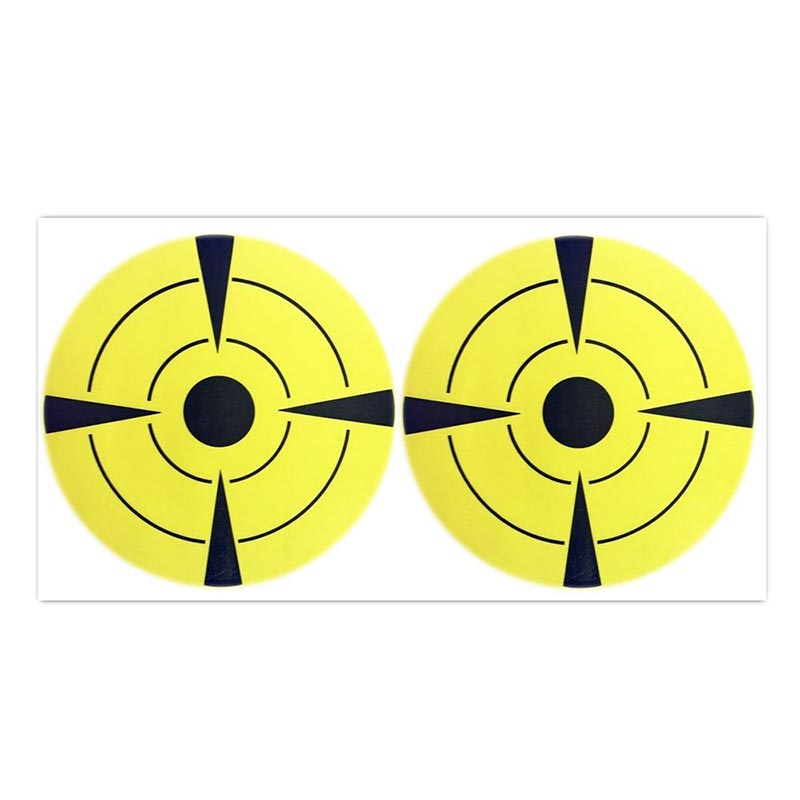 Target Stickers (Qty 10pcs 3) Round Adhesive Shooting Targets - Target Pasters - Fluorescent Yellow and Black