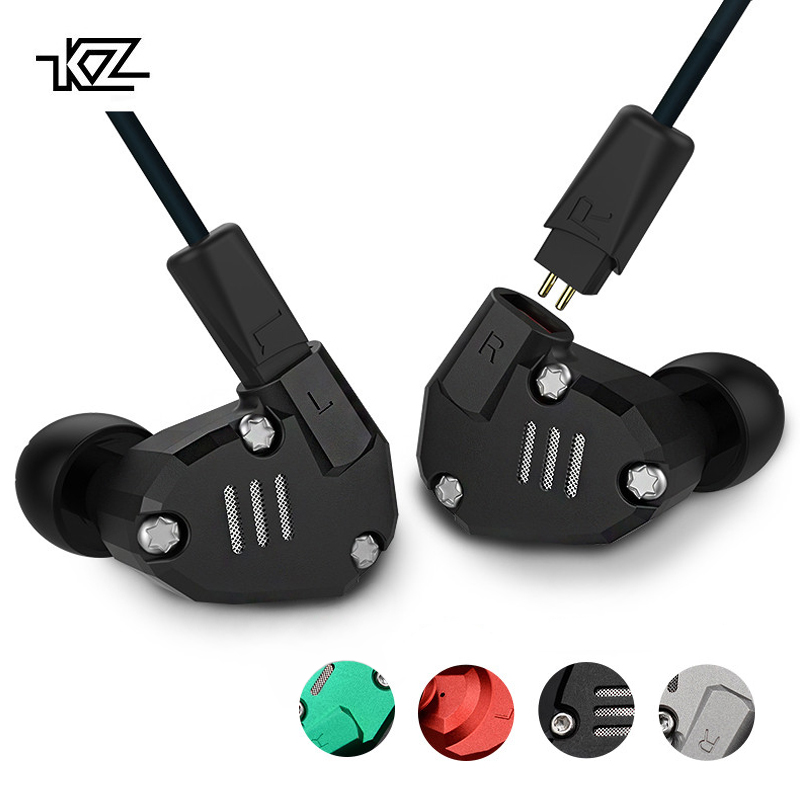 KZ ZS6 8 Driver Earphone 2DD+2BA Dynamic And Armature In Ear HIFI Stereo Sport Hybrid Headset Detachable Bluetooth Upgrade Cable kz zs6 2dd 2ba hybrid driver in ear earphone earbud zs5 upgraded iem hifi noise isolating stereo headset with microphone